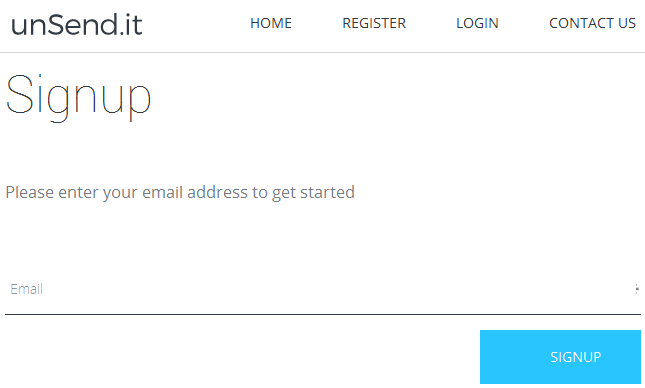 unsend it sign up