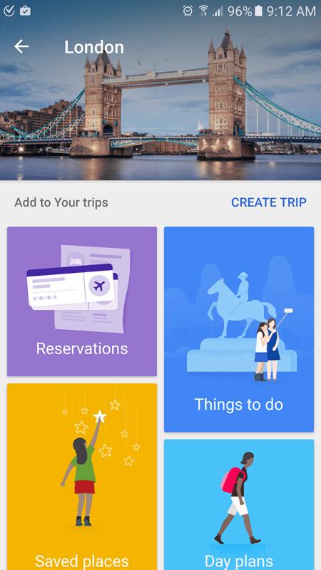 google trips create-trip