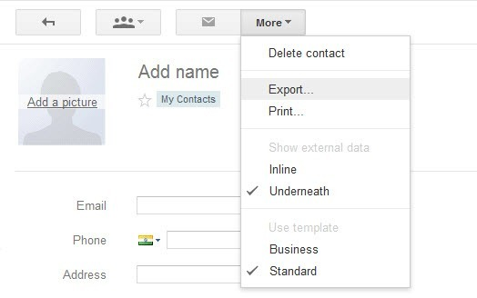 export iphone contacts to gmail