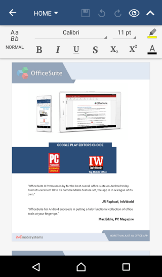 OfficeSuite Pro - Productivity Applications For Android