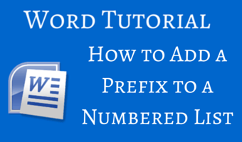How to Add a Prefix to a Numbered List in Word