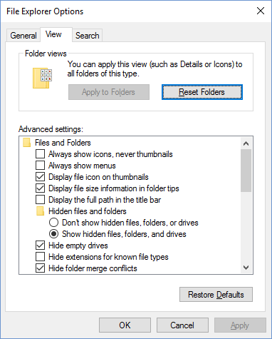 How to Display Hidden Files and Folders in Windows 10