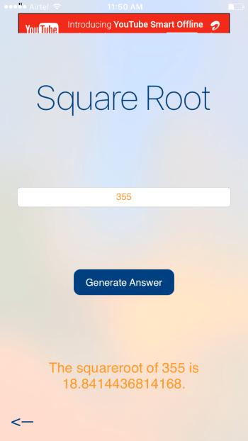 6284 Calc Square Root Calculation