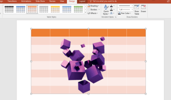How to Create 3D Effects for PowerPoint Tables