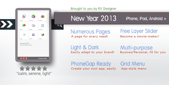 New Year 2013 Mobile Template