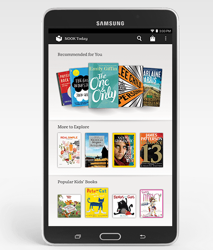Samsung Galaxy Tab 4 Nook Recommendations