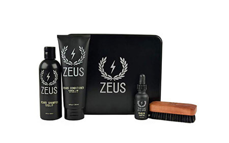 ZEUS Deluxe Beard Grooming Kit, Verbena Lime