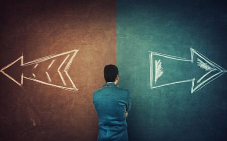 Man taking decision