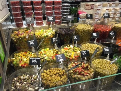 Greek Olive Section at Pete's Fresh Market