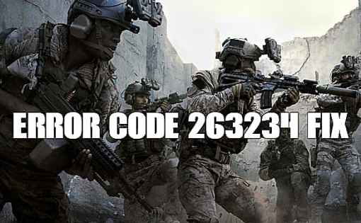 Call of Duty Modern Warfare - Cómo solucionar el código de error 263234 1
