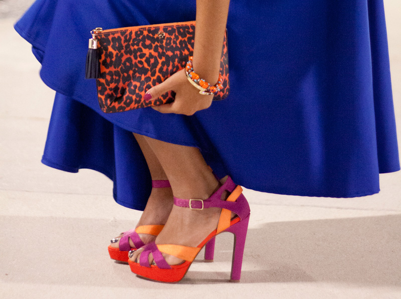 Paired with Statement heels and a leopard print clutch