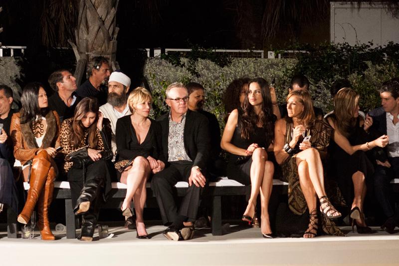 Front Row Adriana Lima and Donna Karan