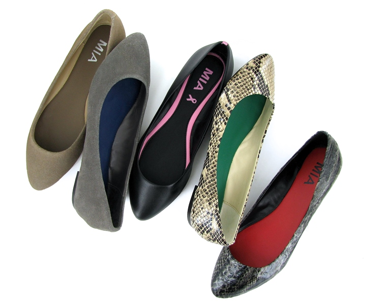 Mia Shoes Amanda flats different colors