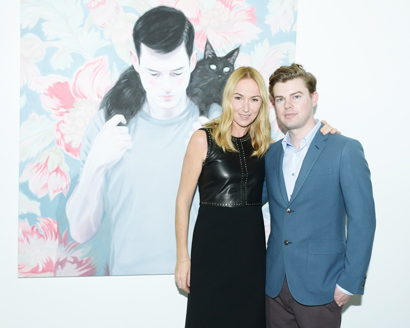 Gucci's Creative Director Frida Giannini and the artist Kris Knight - Pic by Joe Schildhorn / Billy Farrell Agency