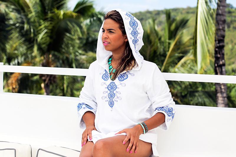 c/o Laura Manara coverup terry hoodie
