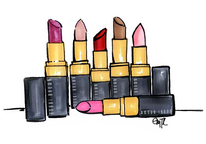 Lipsticks in every color