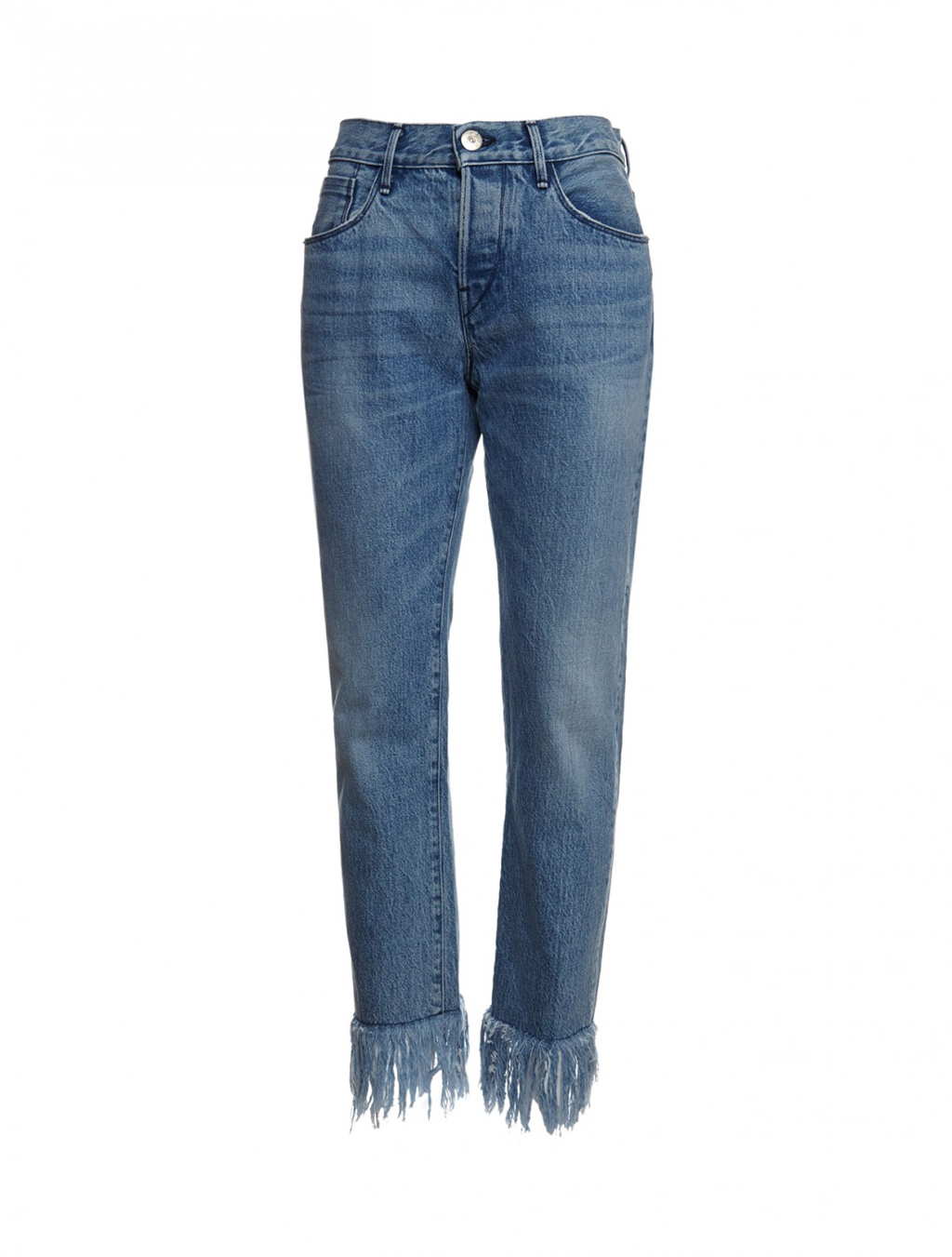 3x1 Fringe bottom jeans