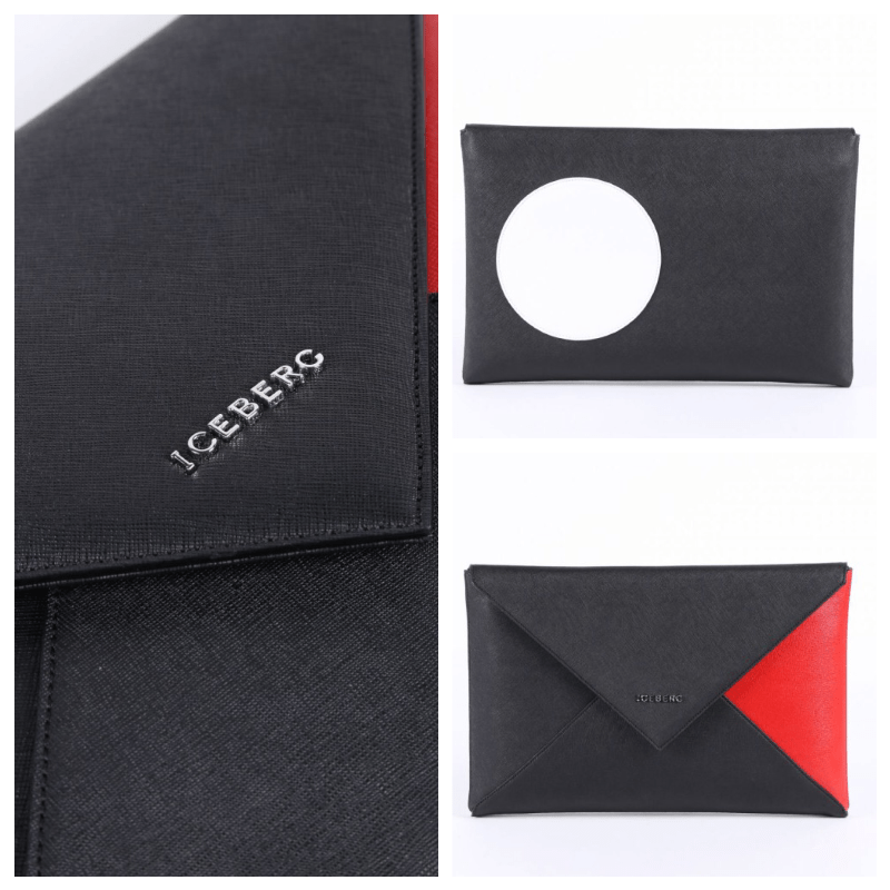 Triangle and Dot Clutch by Iceberg