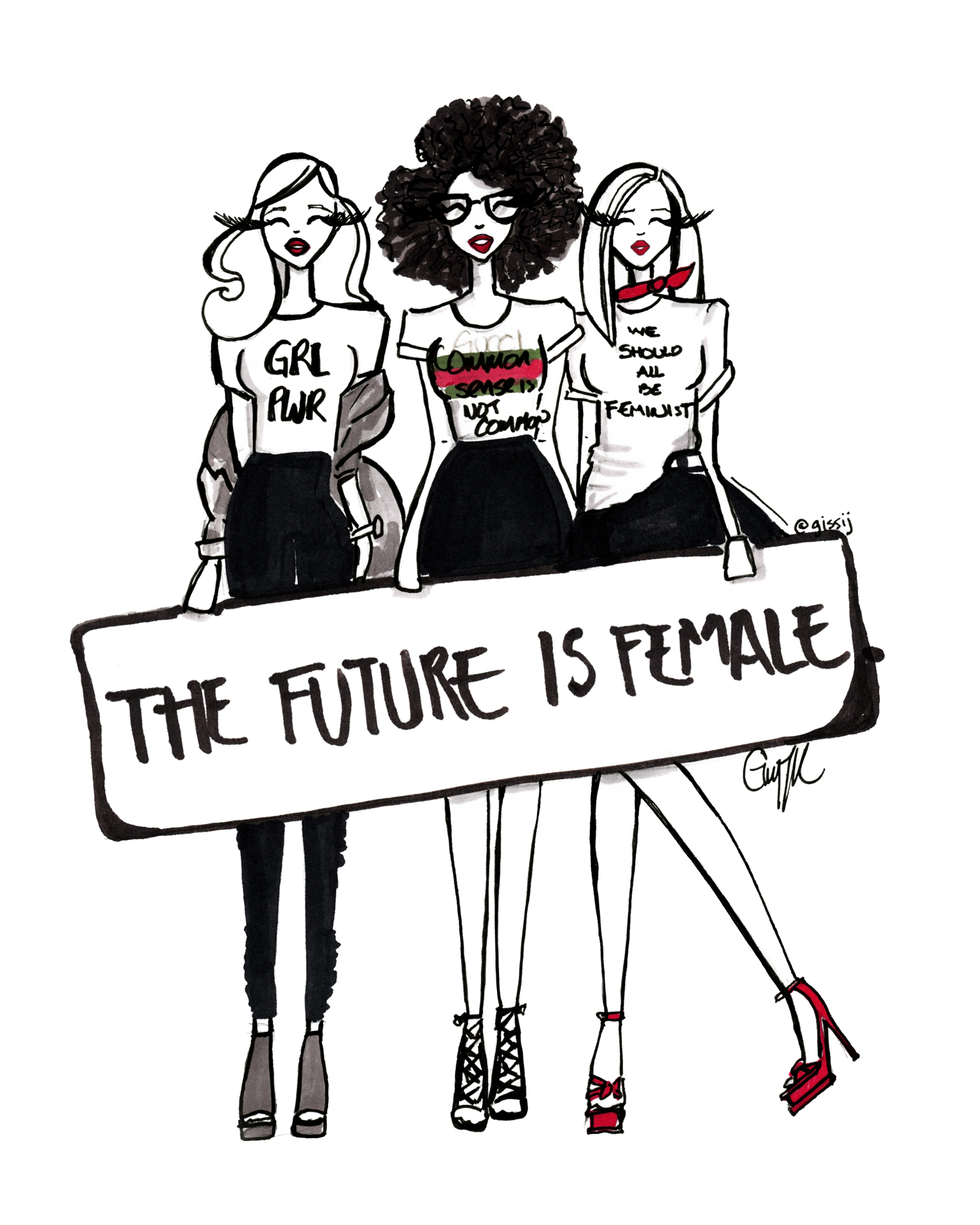 We should all be Feminist Illustration by The Architect of Style - Gissi Jimenez