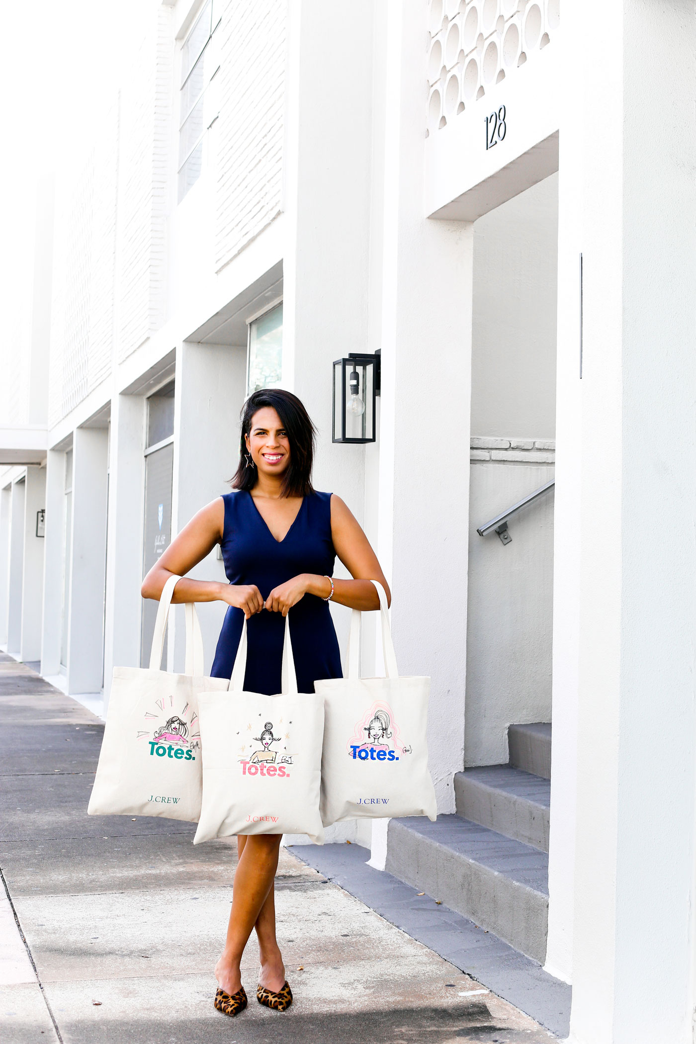 #withatwist custom totes by Gissi Jimenez for J.Crew