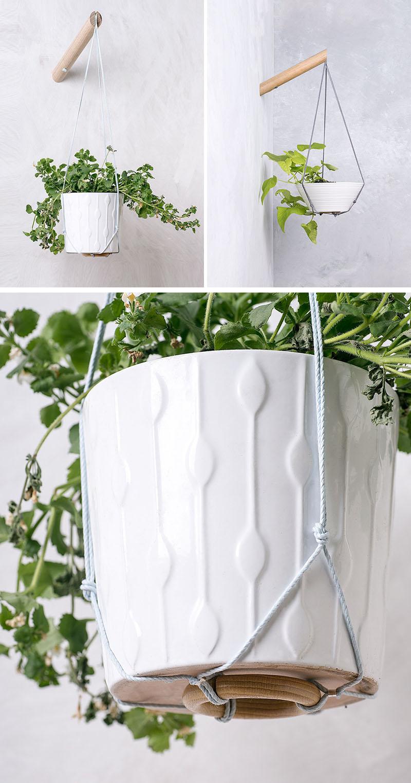 53 Indoor Garden Idea - Hang Your Plants From The Ceiling ... on Hanging Plant Pots Indoor  id=89315