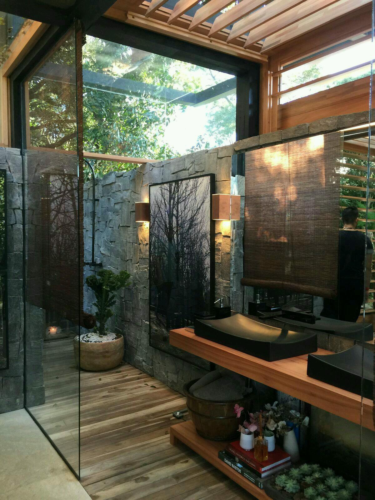 20 Amazing Open Bathroom Design Inspiration - The ... on Backyard Bathroom Ideas  id=21409