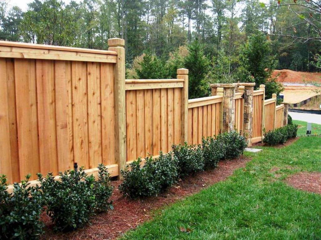 25 Privacy Fence Ideas For Backyard - Modern Fence Designs on Backyard Wooden Fence Decorating Ideas id=58291