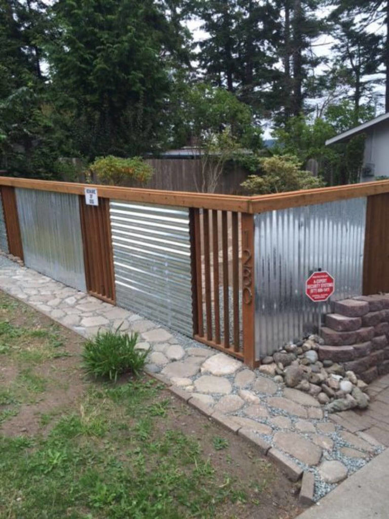 25 Privacy Fence Ideas For Backyard - Modern Fence Designs on Decorations For Privacy Fence id=89628