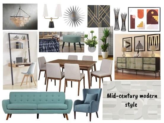 Mid-century modern style
