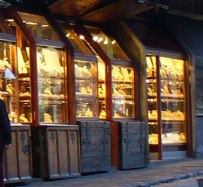 Ancient Jewelry stores in Ponte Vecchio; Florence