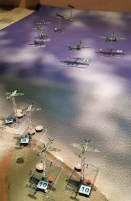 The Me 109s return to engage the RAF fighters