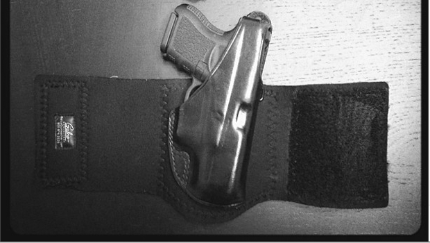 Brian's G26 in a Galco Ankle Glove.