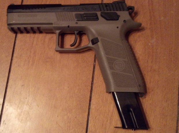 CZ P09 with extended magazines