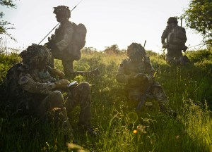 A Lt exercises platoon command in 1 GREN GDS