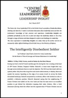 CAL Intelligent Disobedience - The Intelligently Disobedient soldier