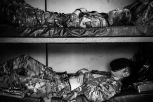 Soldiers sleeping