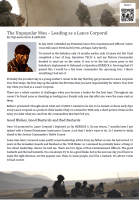 The Unpopular Man - Lead as a Lance Corporal