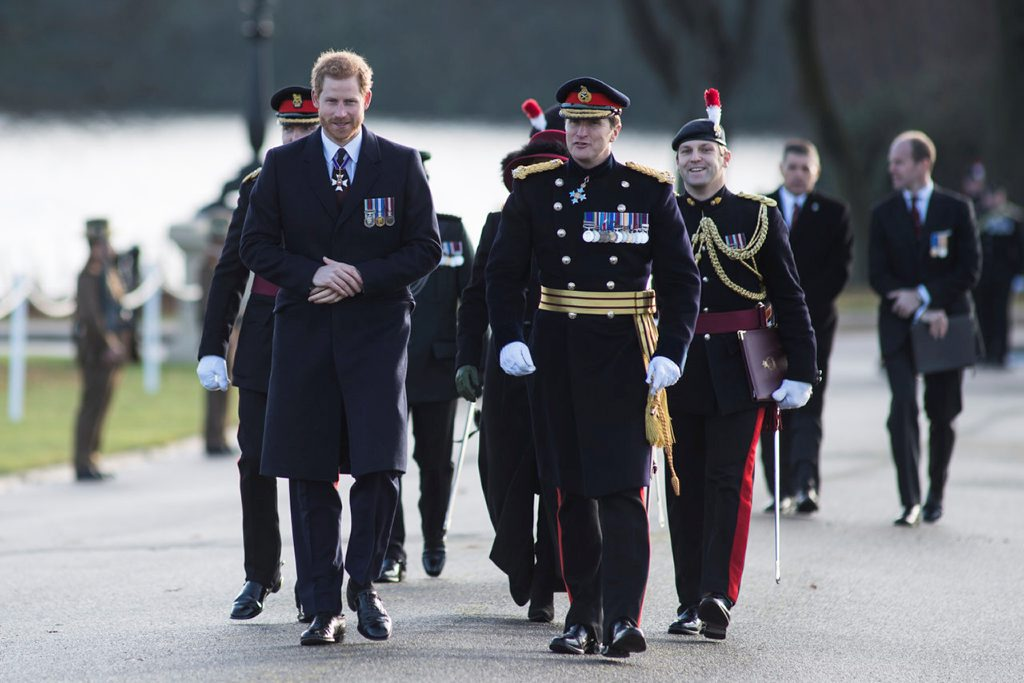 Paul Nanson with Prince Harry at Sandhurst