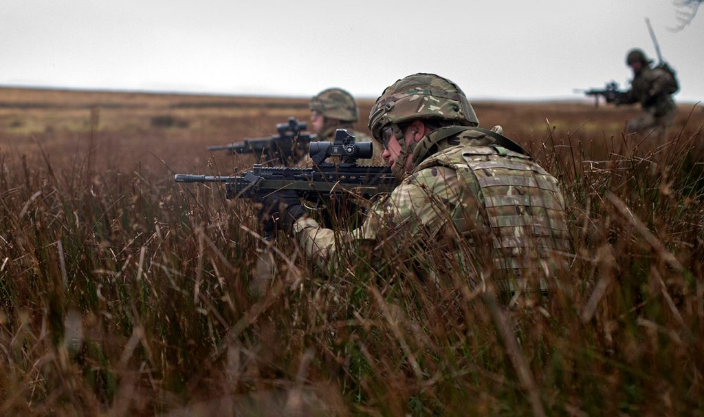 Mutual Respect - Soldiers practice live fire and maneouvre