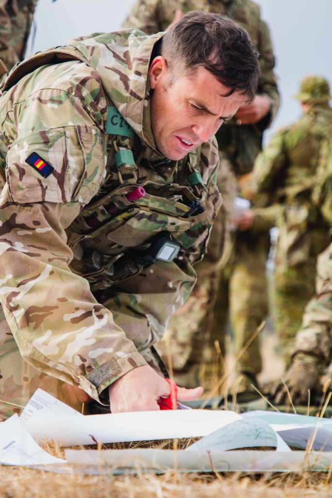 A soldier undergoing training and development