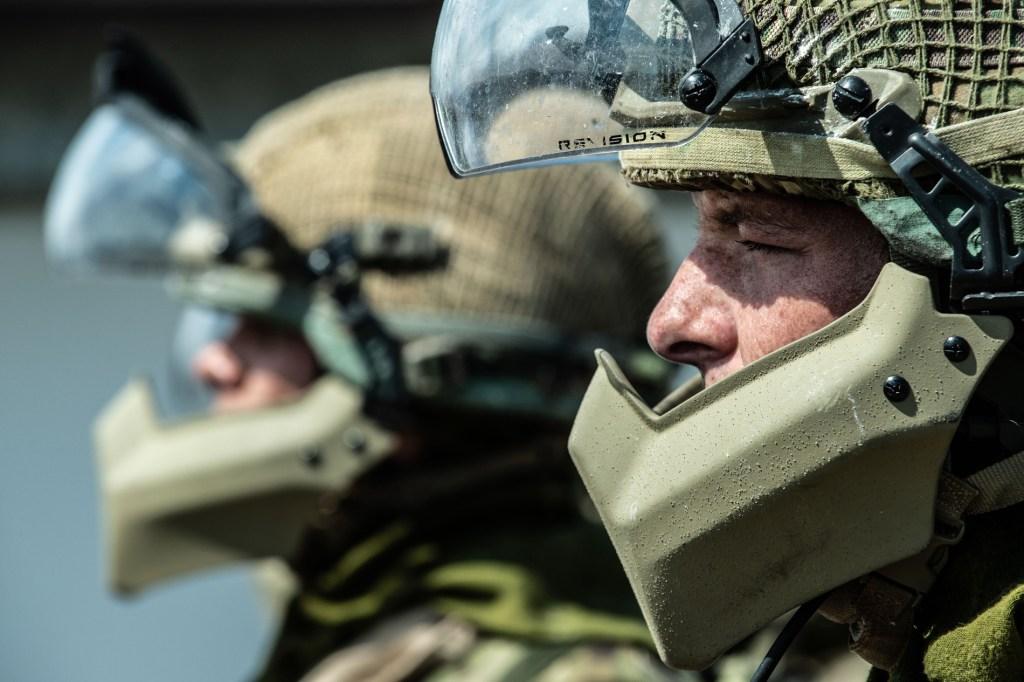 EMpathy or sympathy -  a soldier doing public order training.