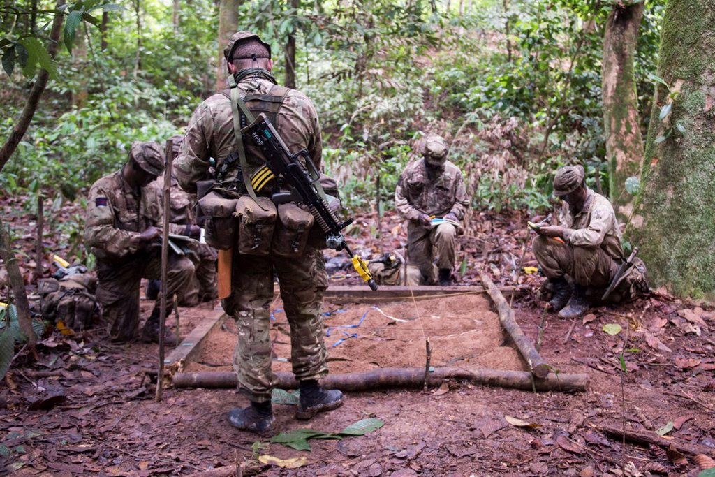 giving orders in the jungle.