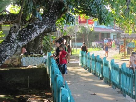 Bridge to the park entrance