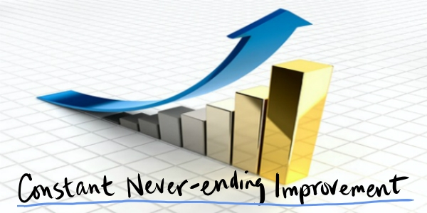 Commit To Constant And Never-Ending Improvement