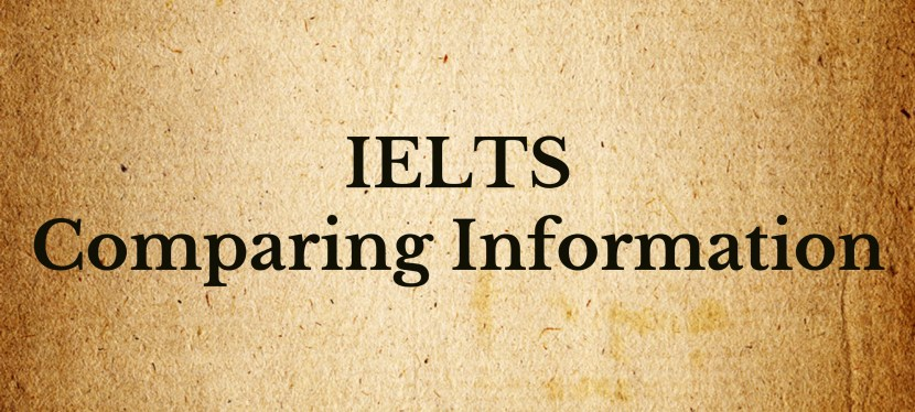 Arsenio's ESL Podcast: Special – IELTS – Comparing Information