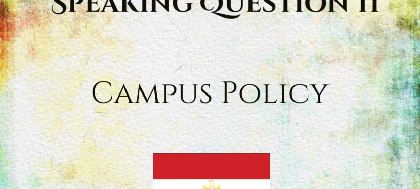 TOEFL iBT | 1 on 1 Coaching | Speaking Question 2 | Campus Policy