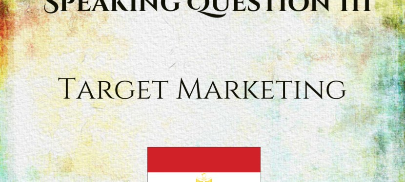 TOEFL iBT | 1 on 1 Coaching | Speaking Question 3 | Target Marketing