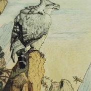 Eagle on Carrock Watercolor