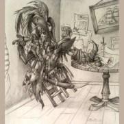 Eliza Baker, Instructor, Pencil Illustration