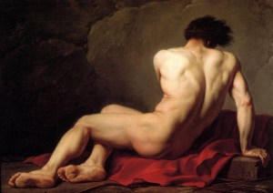 Jacques Louis David, Male Nude known as Patroclus
